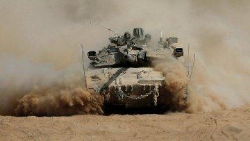 Израильские военный в секторе Газа 31 июля 2014