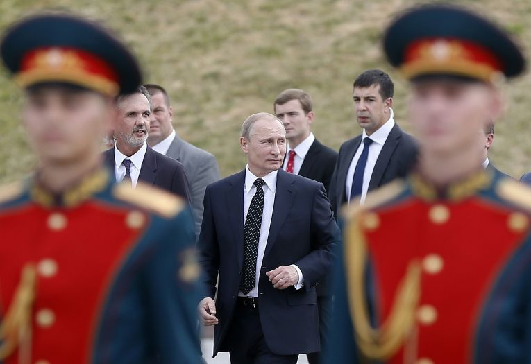 Владимир Путин на церемонии открытия памятника героям Первой мировой войны