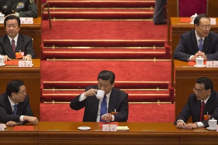Председатель КНР Си Цзыньпин на съезде Коммунистической партии Китая