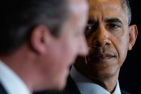 Премьер-министр Великобритании Дэвид Кэмерон и президент США Барак Обама