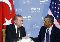 Барак Обама и Реджеп Тайип Эрдоган на саммите НАТО в Уэльсе