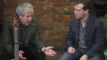 Д.Медведев провел встречу с российскими рок-музыкантами
