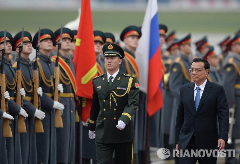 Прилет премьера Государственного совета КНР Ли Кэцян
