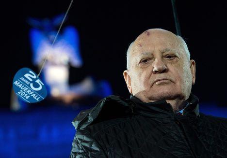 Михаил Горбачев на праздновании 25-летия падения Берлинсой стены
