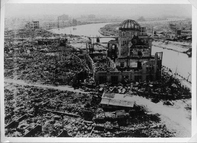 Хиросима после атомного взрыва