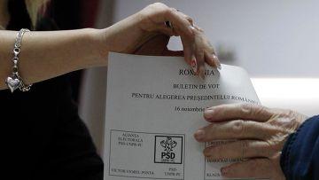 Президентские выборы в Румынии. На избирательном участке в Бухаресте