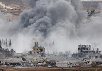 Авиаудары по городу Кобани, где идут бои с силами Исламского государства