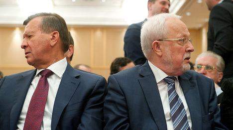Сопредседатель форума «Петербургский диалог» Лотар де Мезьер и Виктор Зубков