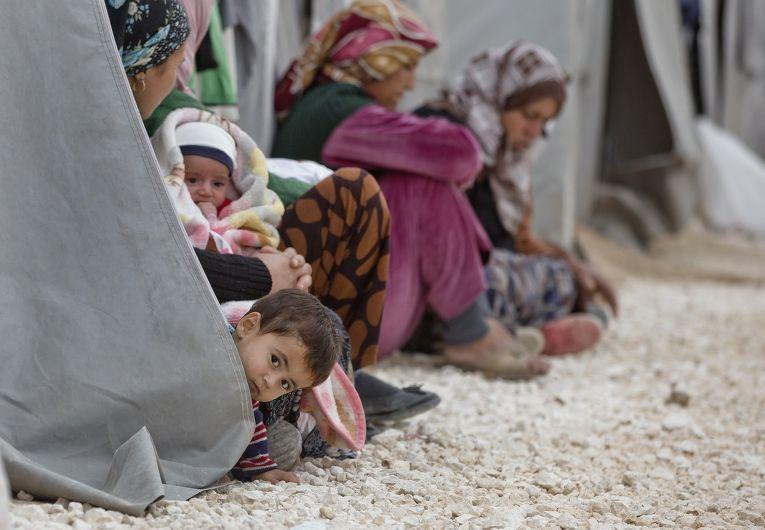 Лагерь для беженцев из Кобани в городе Суруч