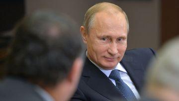 Владимир Путин встретился с новым гендиректором концерна Total П. Пуянне