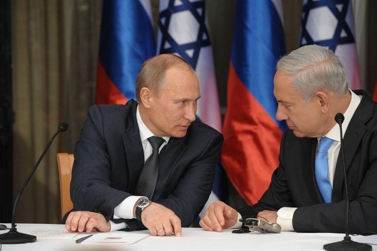 Владимир Путин и Биньямин Нетаньяху во время встречи в Израиле