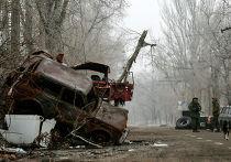 Бойцы народного ополчения в районе Донецкого аэропорта