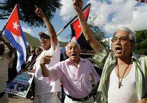 Протесты против восстановления отношений США с Кубой в Майами, 20 декабря 2014