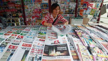 Газетный киоск в Шанхае