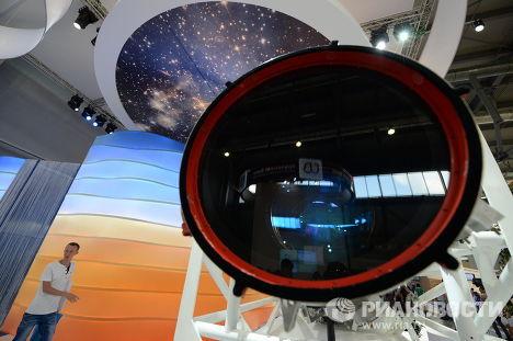 Оптико-электронная аппаратура дистанционного зондирования земли «Геотон-Л1» для космического аппарата «Ресурс-П» на стенде холдинга «Швабе»