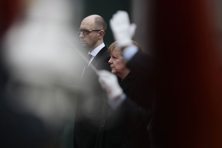 Ангела Меркель и Арсений Яценюк, визит украинского премьер-министра в Берлин