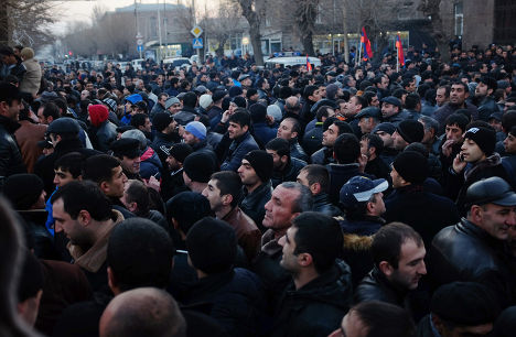 Акция протеста в Гюмри