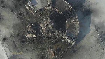 Последствия обстрелов аэропорта Донецка, 15 января 2015