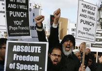 Митинг мусульман в центре Лондона