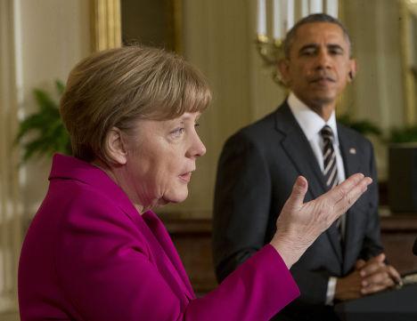 Пресс-конференция Ангелы Меркель и Барака Обамы