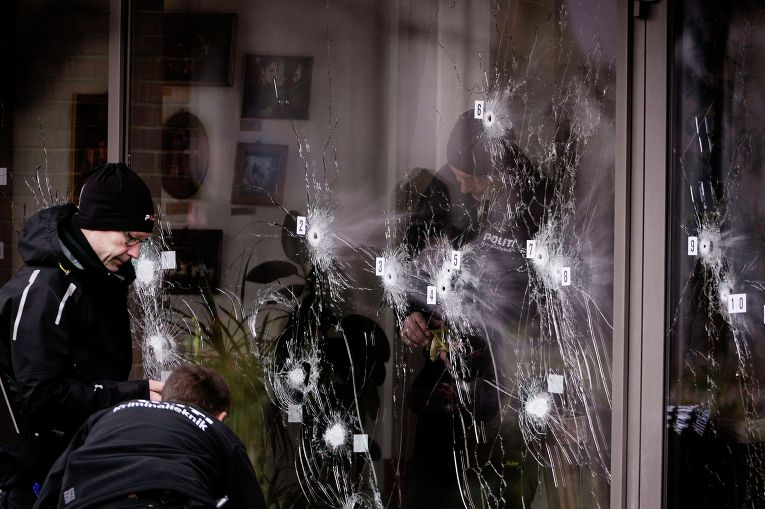 У культурного центра Круттенден в Копенгагене, где произошла стрельба