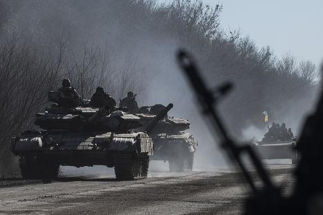 Украинские войска рядом с городом Артемовск
