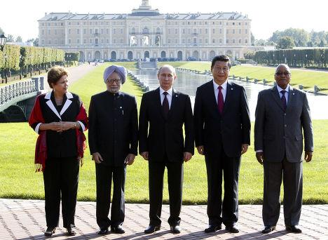 Встреча лидеров стран-участниц БРИКС на саммите G20 в Санкт-Петербурге