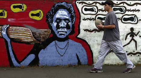 Граффити австралийских аборигенов в пригороде Сиднее