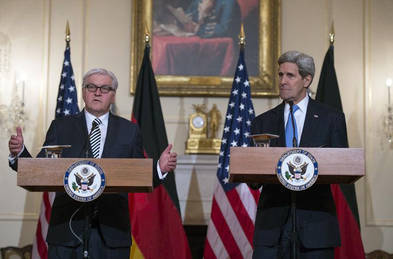 Встреча Джона Керри с Франком-Вальтером Штайнмайером, визит министра иностранных дел Германии в США