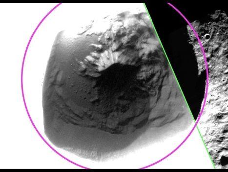 Кратер Фуллера на поверхности Меркурия, сфотографированный космическим аппаратом НАСА Messenger