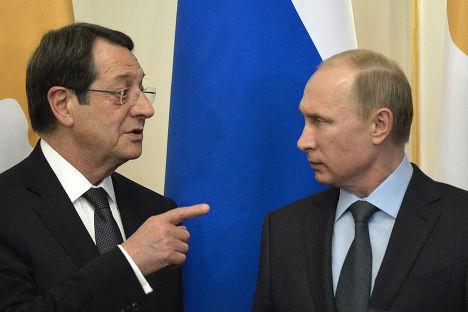 Встреча Владимира Путина с президентом Кипра Никосом Анастасиадисом в Ново-Огарево