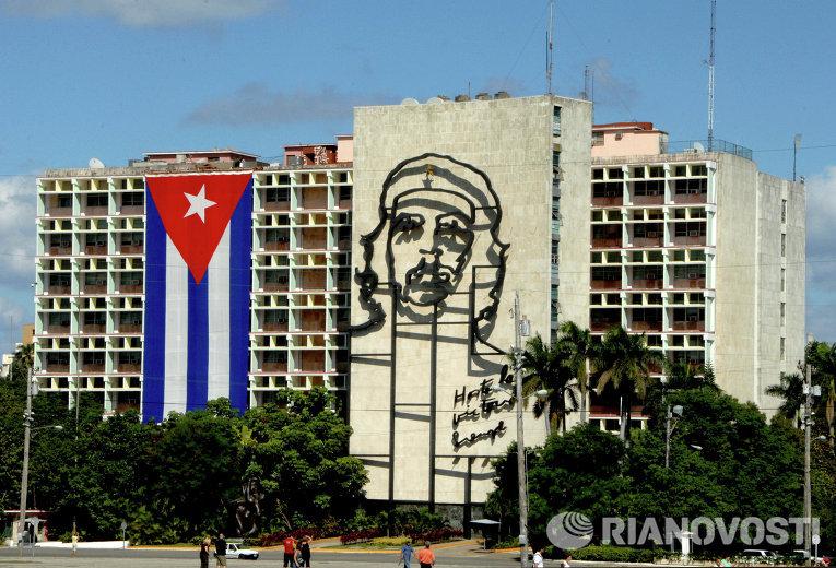 Гавана. Площадь Революции. Здание Министерства внутренних дел Республики Куба