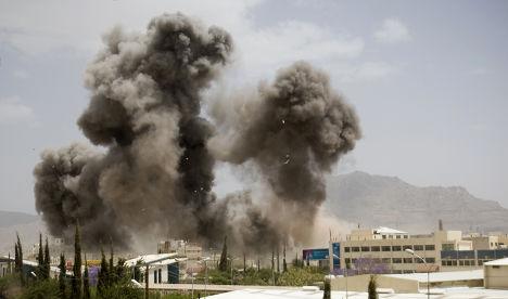 Авиаудар коалиции во главе с Саудовской Аравией по Сане