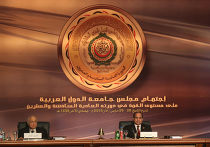 Президент Египта Абдул-Фаттах Ас-Сиси и генеральный секретарь Лиги арабских государств Набиль аль-Араби на встрече в Каире