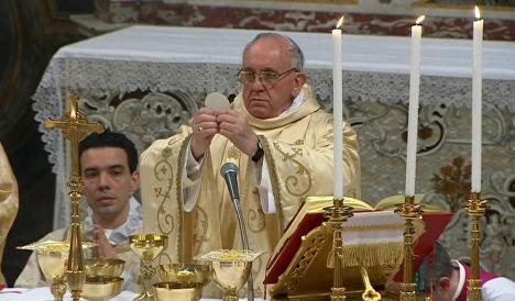Папа Франциск проводит мессу в Сикстинской капелле