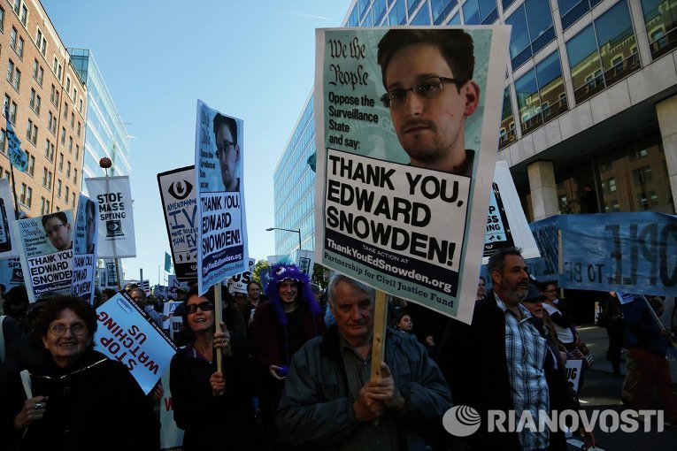Акция протеста против слежки АНБ в Вашингтоне. Фото с места событий