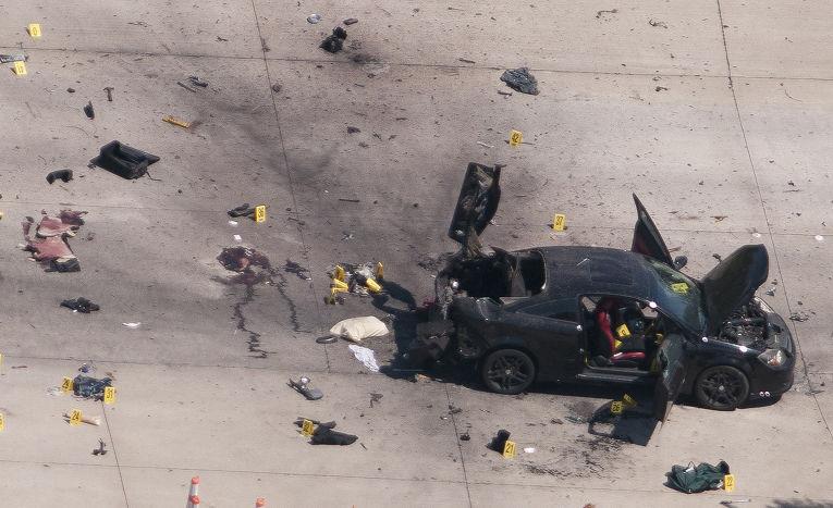 Автомобиль открывших стрельбу у выставочного центра в Гарленде