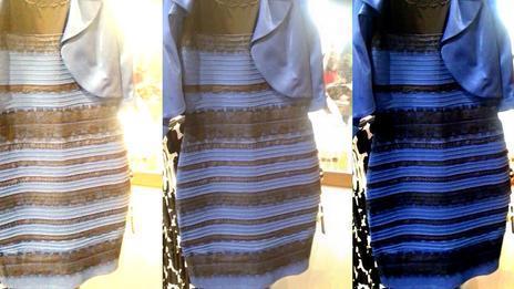 Платье синее или белое?
