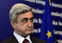Президент Армении Серж Саргсян в штаб-квартире Европейской комиссии в Брюсселе