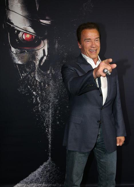Арнольд Шварцнеггер на премьере фильма «Терминатор: Генезис»
