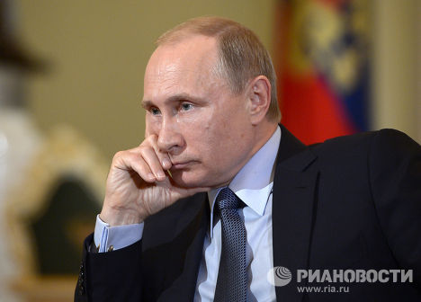 "Владимир Путин дает интервью газете ""Il Corriere della Sera"""
