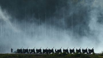 """Артиллеристы во время демонстрационной программы Международного военно-технического форума """"Армия-2015"""""""