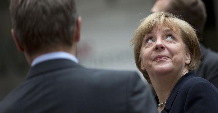 Ангела Меркель на заседании глав государств и правительств стран Европейского союза в Брюсселе, 7 июля 2015 года