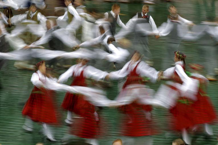 Праздник песни и танца школьной молодежи Латвии в Риге