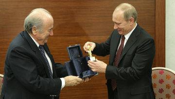 Встреча Владимира Путина с Йозефом Блаттером