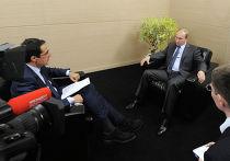 Президент РФ Владимир Путин дал интервью швейцарским средствам массовой информации