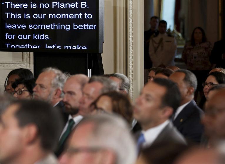 Выступление Барака Обамы в Белом доме, посвященное вопросам климата