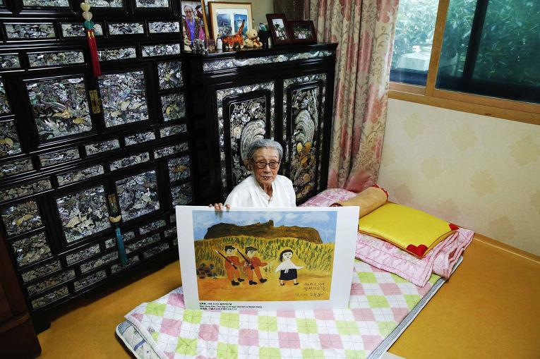 Ким Бок Дон в доме для бывших «женщин для утешения» в Сеуле