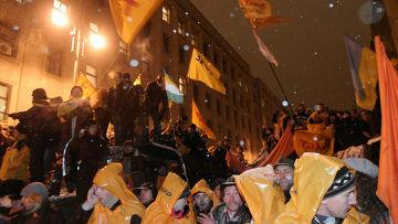 Разгромленный парламент Молдавии