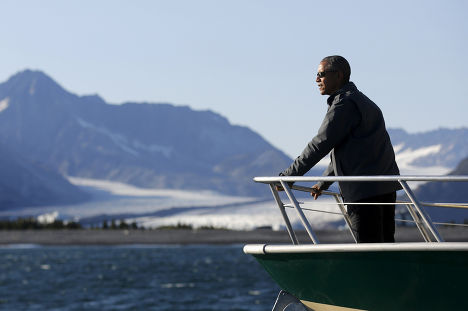 Барак Обама в Национальном парке Кенай фьордс на Аляске